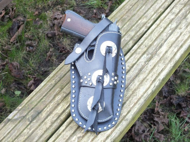 Frazier Style Mexican Loop Holster for Colt 1911 GI Black