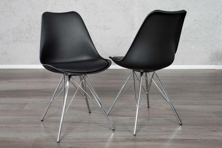 Jedálenské stoličky - moderné : Stolička Sweden Retro čierna