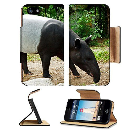 MSD Premium Apple iPhone 5 iphone 5S Flip Pu Leather Wallet Case malayan tapir tapirus indicus Thailand iPhone5 IMAGE 20643694 >>> Be sure to check out this awesome product.