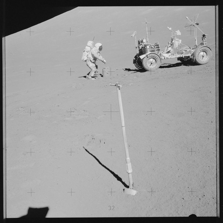 Nasa, Moon landing photos. Apollo 17 Hasselblad image from film magazine 142/M - EVA-3