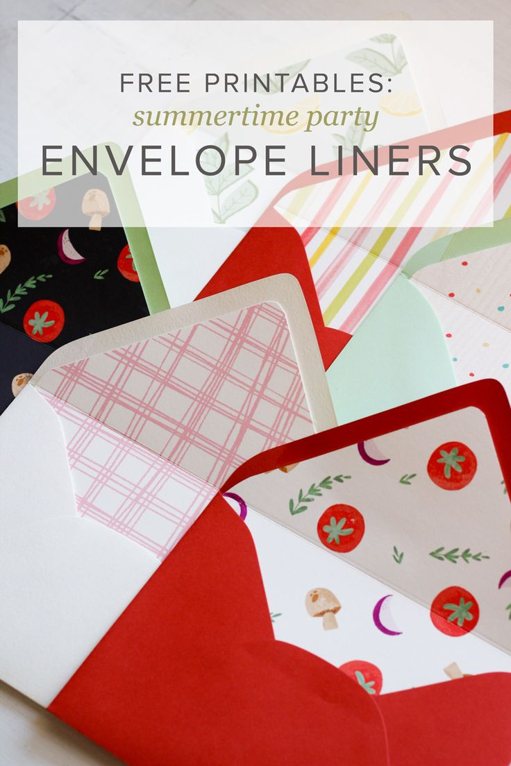 Free Download Summer Party Envelope Liners 17