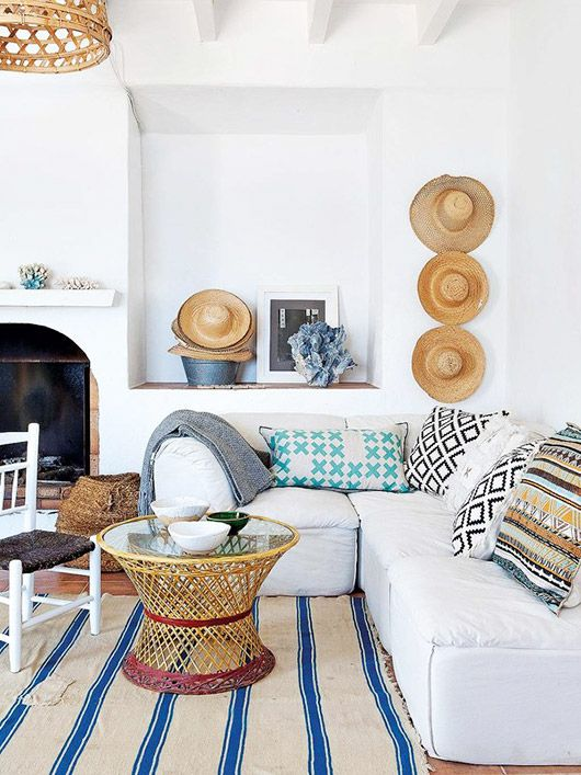 beachy Mediterranean home of lifestyle designer & stylist jessica bataille | as seen on sfgirlbybay | white modular sofa sectional | get the look with an IKEA Vallentuna sofa and a Bemz cover