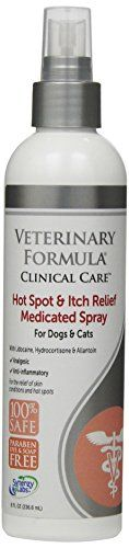 SynergyLabs Veterinary Formula Clinical Care Hot Spot  Itch Relief Medicated Spray for Dogs  Cats 8 fl oz * Want to know more, click on the image. Note: It's an affiliate link to Amazon.