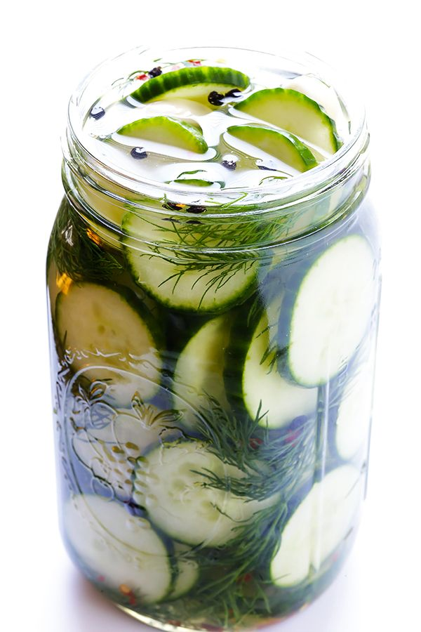 5 Minute DIY Refrigerator Pickles // store pickles are too salty, can cut back salt with homemade options