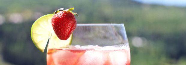 Strawberry Campari Spritz