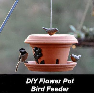 DIY Garden and Crafts - DIY Flower Pot Bird Feeder