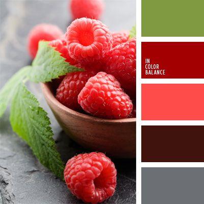carmín alizarina, color amaranto, color frambuesa, colores para la decoración, elección del color, gris y rojo, paletas de colores para decoración, paletas para un diseñador, rojo oscuro, selección de colores, verde manzana.