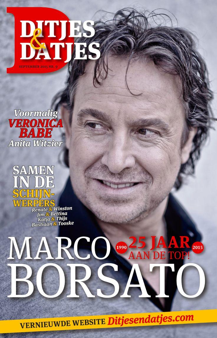 Cover Ditjes & Datjes 9, met als 25 jaar aan de top! Marco Borsato. #DitjesDatjes #MarcoBorsato