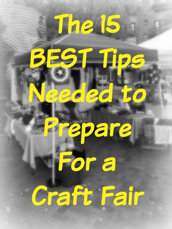 The best list out there for getting yourself prepared for a craft show!
