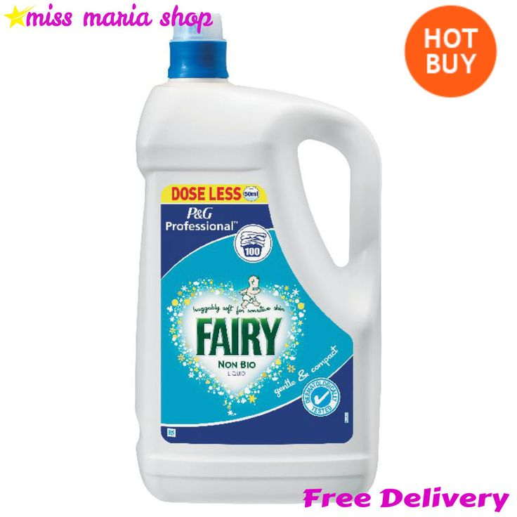 Laundry Washing Liquid Fairy Non Bio Professional 5 Ltr 100 Washes Tough Staines