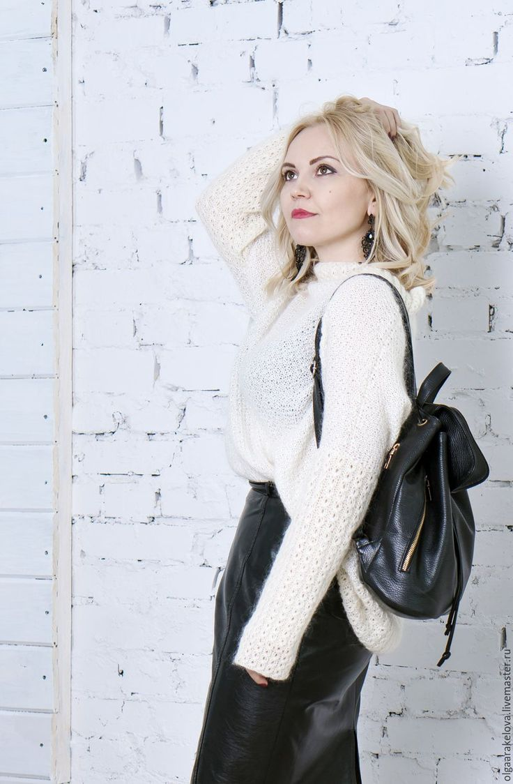 """Купить Искристый оверсайз """"Fluffy snow"""" нарядное платье-свитер - белый, свитер-туника"""