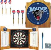Trademark Games - University of Maine Pine Dart Cabinet Set - Brown, LRG7000-ME