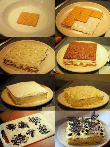 Gâteau aux petits beurres-banane