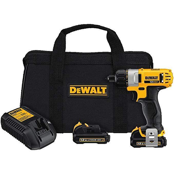 Dewalt Dcf610s2 12 Volt Max 1 4 Inch Screwdriver Kit Impact Wrench Cordless Screwdrivers Dewalt