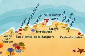Mapa de la costa de cantabria