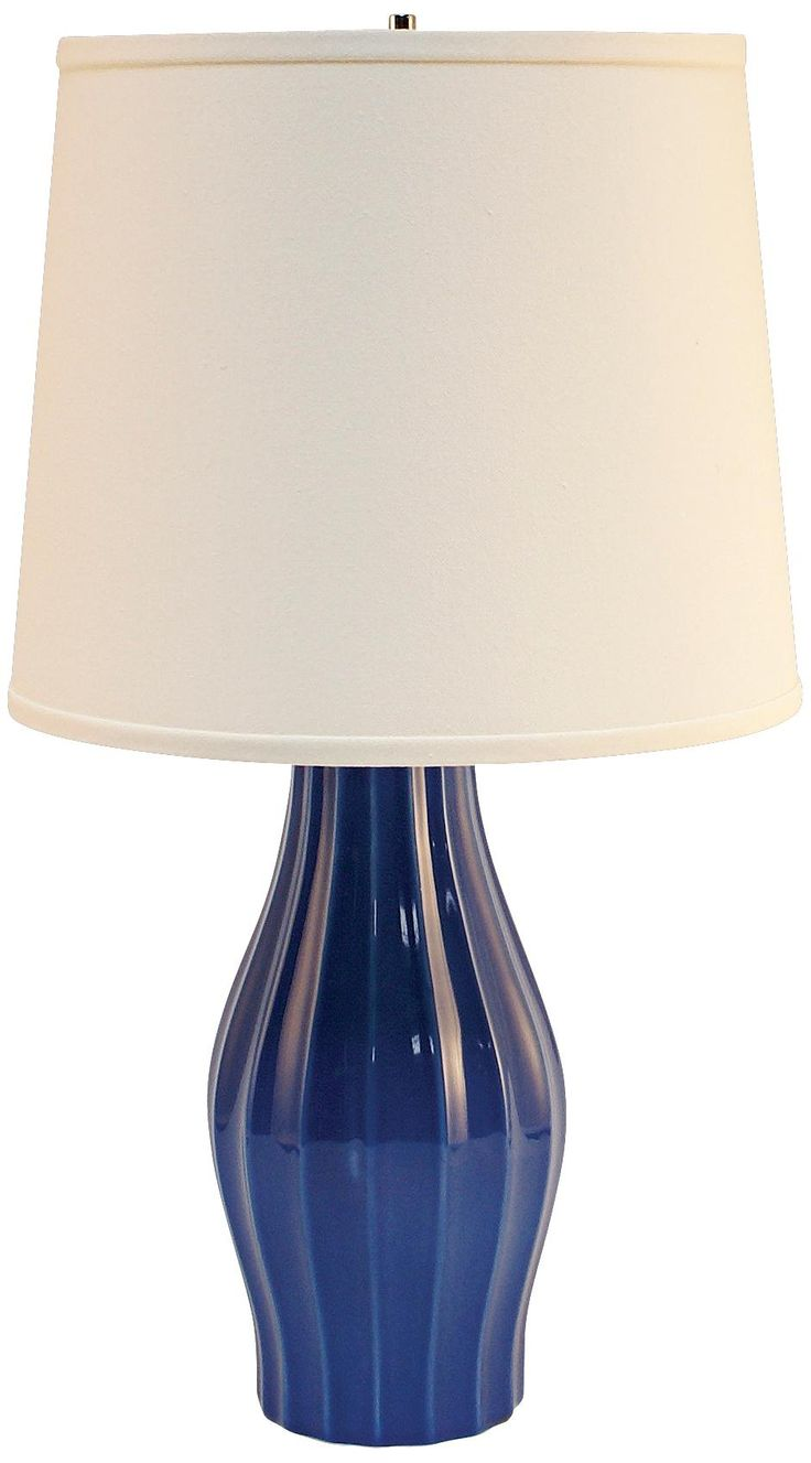 Haeger Potteries Blue Fluted CeramicTable Lamp