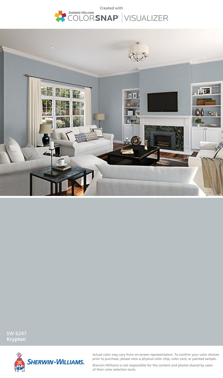 I found this color with ColorSnap® Visualizer for iPhone by Sherwin-Williams: Krypton (SW 6247).
