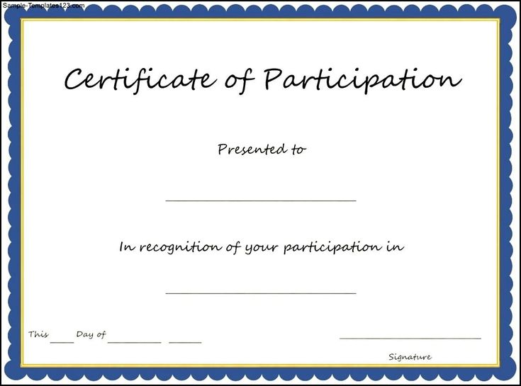 Certificate Of Participation Template Free Best 25 Certificate Of Participation Template Ideas On Pinterest Create Certificate