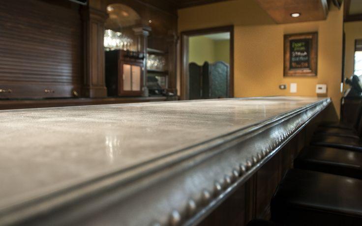 17 best images about zinc on pinterest industrial for Zinc kitchen countertop