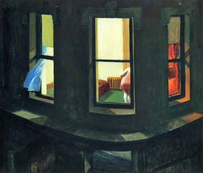 """Night Windows"" Edward Hopper."