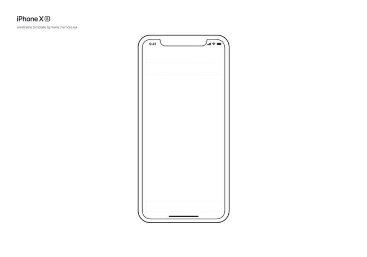 Free iPhone XS Wireframe Template | Wireframe template ...