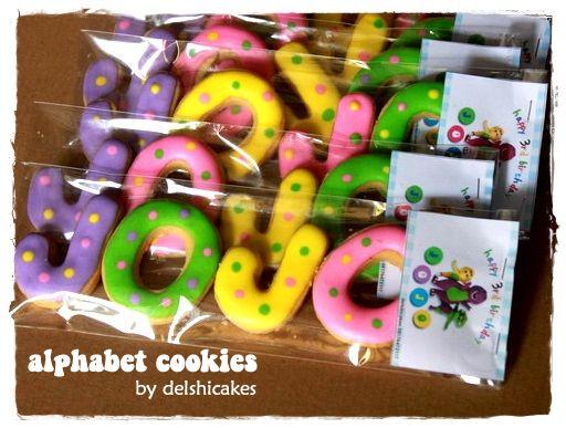 Alphabet Cookies for Jojo