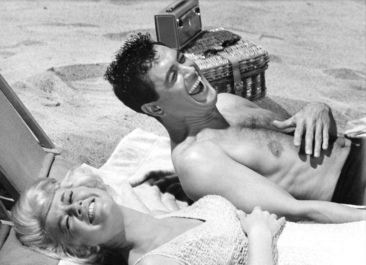 Rock Hudson & Doris Day Laughing   Hollywood © Leo Fuchs 1964