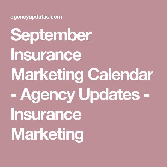 September Insurance Marketing Calendar - Agency Updates - Insurance Marketing