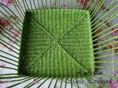 Мастер-класс Плетение Мастер - класс квадратное дно от центра Бумага газетная Трубочки бумажные фото 1
