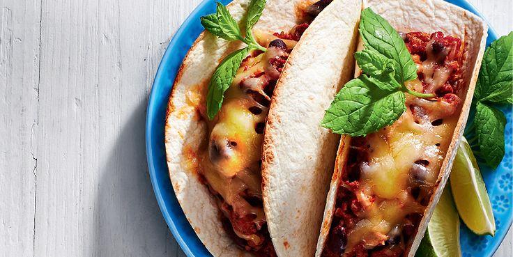 Tacos με κιμά και σως γιαουρτιού