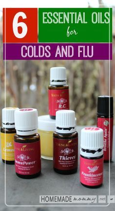 Young Living Essential Oils: 6 Essential Oils for Colds and Flu. No more getting sick for me! Check out the blog |www.homemademommy.net