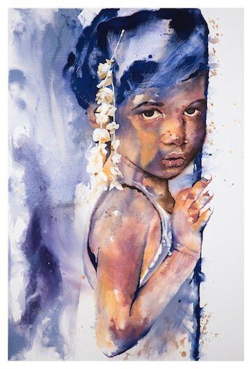'Sindhu' by Johanna Wilbraham. Oil on canvas, 120 x 180 cm.