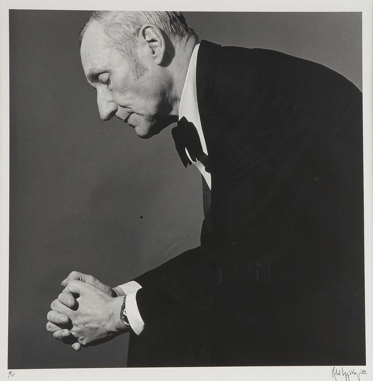 William Burroughs, by Robert Mapplethorpe