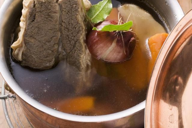 Consommé is much heartier than a basic beef broth. This beef consommé recipe calls for ground beef, eggs and eggshells. It's a bit unorthodox to those unfamiliar with French cuisine, but well worth the effort. French soup with beef.