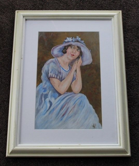 Wow Oil Painting Or Print Of A 1920's Lady Flapper  #ARTDECO