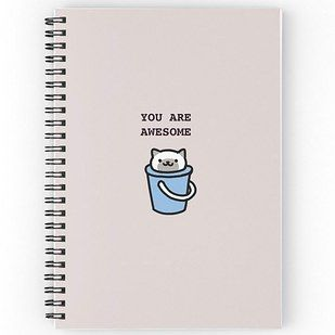 These inspirational notebooks ($12 each) | 19 Ridiculously Cute Gifts For Cat Collectors