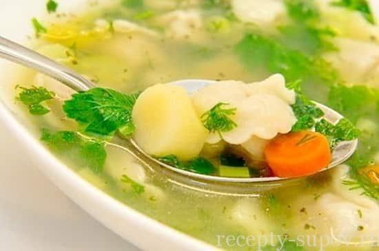 куриный суп с клецками фото