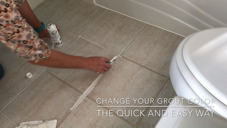 How To Change Grout Color The Easy Way Cleaning Floor Grout Grout Cleaning Diy Grout Color
