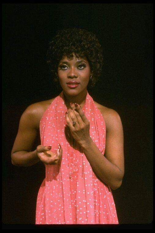 A 1982 photograph of a young Loretta Devine in the Broadway musical Dreamgirls