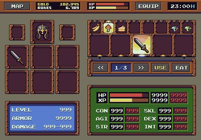 RPG Game: Interface Mockup - Update 1