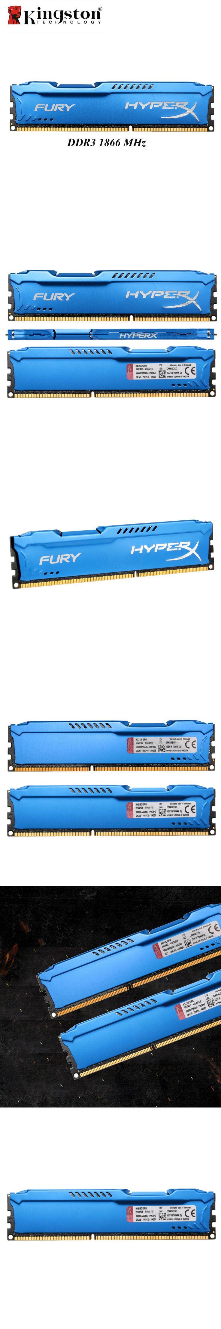 Kingston HyperX Fury DDR3 4GB 8GB Memoria RAM 1866MHz DDR 3 DIMM Intel Gaming Memory For Desktop PC 204pin DDR3 SDRAM 4 GB 8 GB