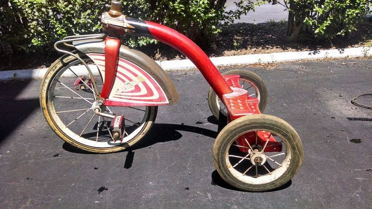 Tricycle Restoration Parts : S amf junior red tricycle parts or restoration