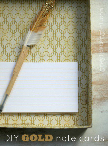 DIY Gold Note cards made with Silhouette CAMEO