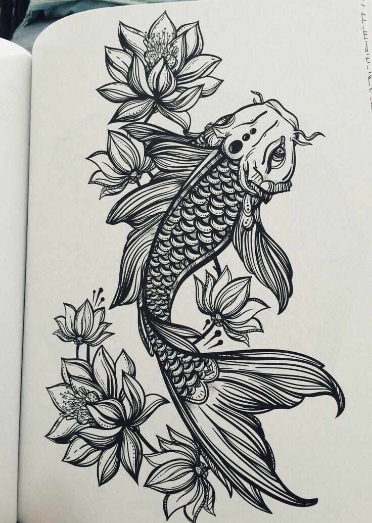 21 Koi Fish Tattoo Designs Ideas: Pinterest: •Linell•
