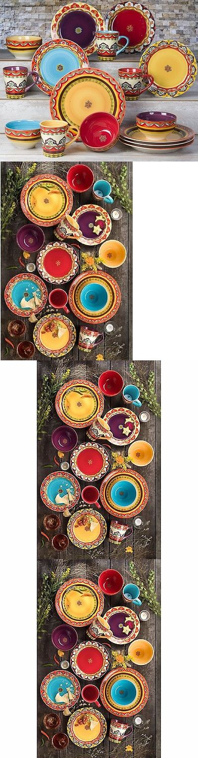 Dinner Service Sets 36032: Euroceramica Galicia Colorful Dinnerware 16-Piece Set Service For 4 New Freeship -> BUY IT NOW ONLY: $129.99 on eBay!
