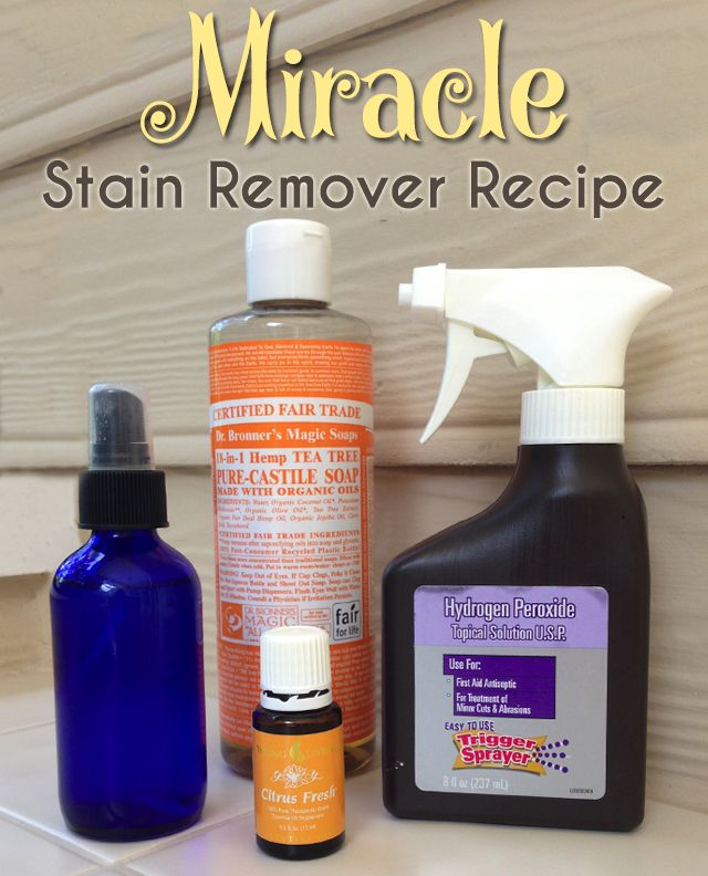 DIY Miracle Stain Remover