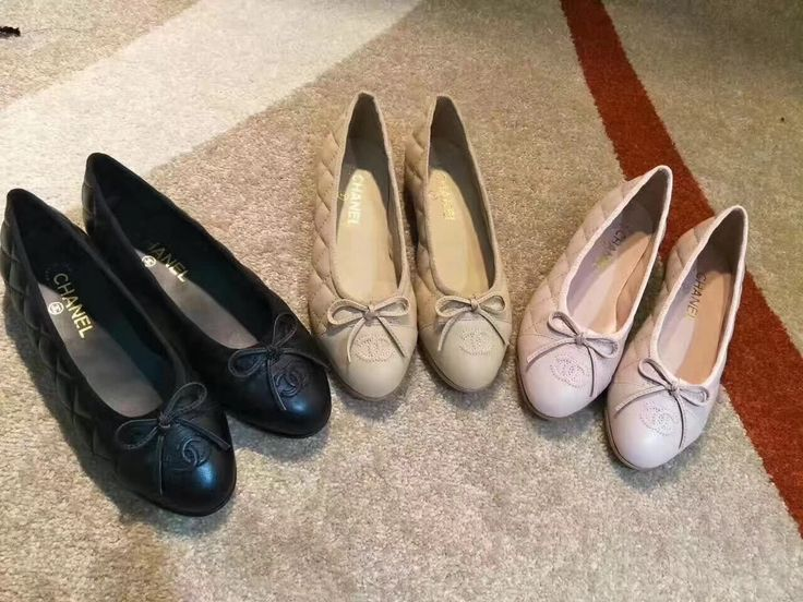 Chanel ballerina leather flats shoes
