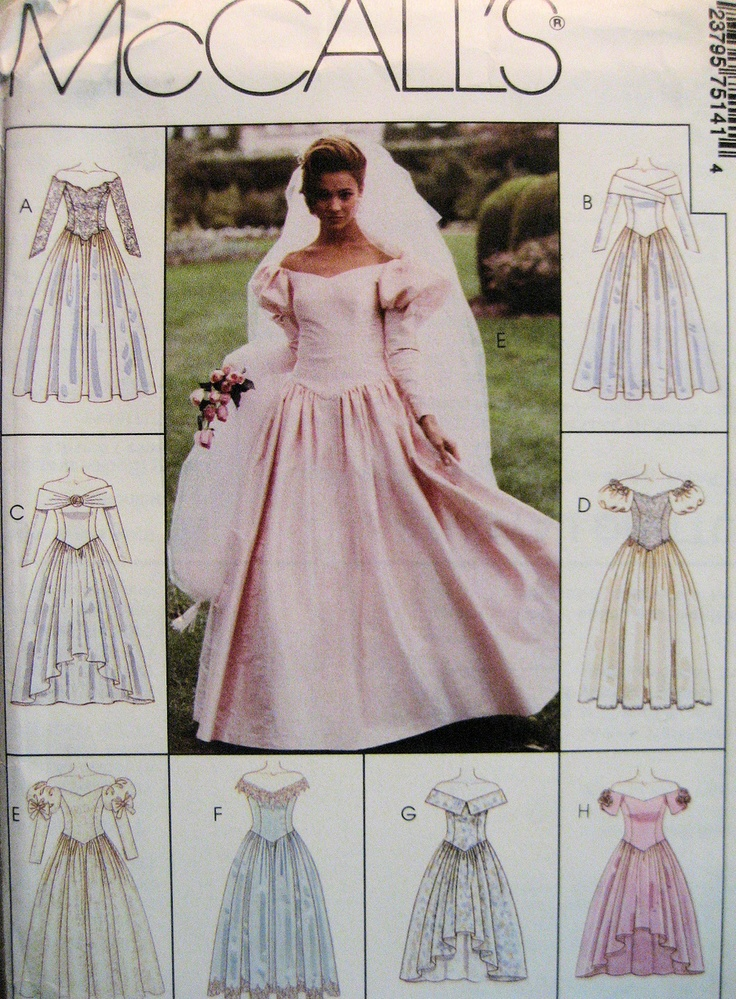 1186 best bridal patterns through the years images on for Mccall wedding dress patterns