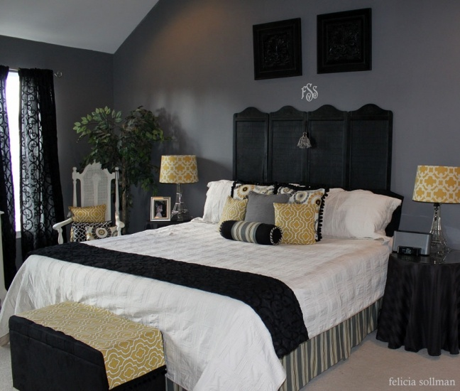 Never thought about using a private screen as a headboard. Hmmm