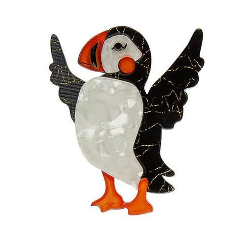 "Erstwilder Limited Edition Ollie the Brave Brooch. ""Never ever underestimate the Puffin. Sure we're adorable and good-natured but we're also energetic and stylish. """